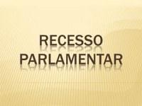 Horário no Recesso Parlamentar