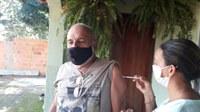 Vereador Cícero Liga Liga é vacinado contra o Covid-19